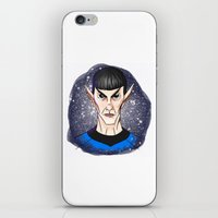 spock iPhone & iPod Skins featuring Spock by Eriboo