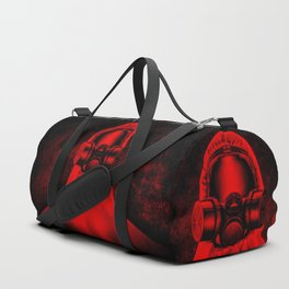 Toxic environment RED / Halftone hazmat dude Duffle Bag