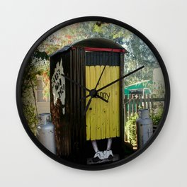 Dunny - Outback Queensland Humour :) Wall Clock