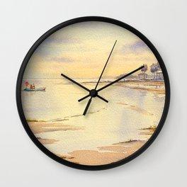 Scalloping At Hagens Cove And Keaton Beach Wall Clock