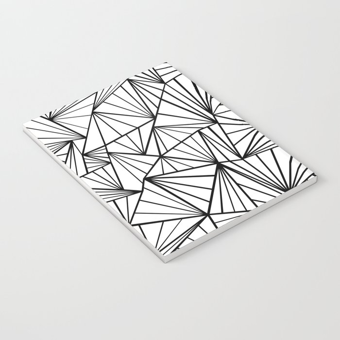 Ab Fan #2 White Notebook
