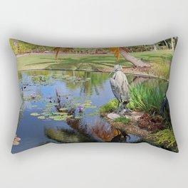 At the Pond Rectangular Pillow