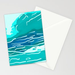 abstract style aurora borealis absdri Stationery Cards