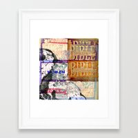 bible Framed Art Prints featuring Bible Women by Mary Button