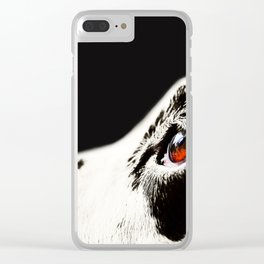 The Amber Eye. Kokkie. Dalmation Dog Clear iPhone Case