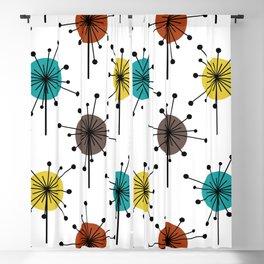 Atomic Era Sputnik Starburst Flowers Blackout Curtain