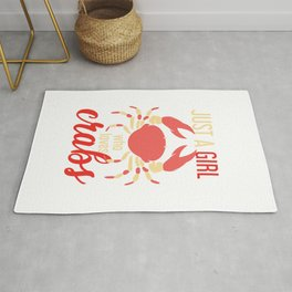 Just A Girl Who Loves Crabs Rug