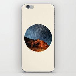 Long Exposure Of Spinning Stars iPhone Skin