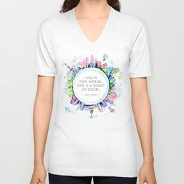 Rory Gilmore Bookish World Unisex V-Neck