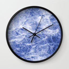 Deep blue sea marble texutre Wall Clock