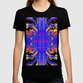 Blue & Golden Desert Mirage Abstract T-shirt