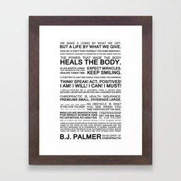 Epigrams & Quotes from B.J. Palmer Framed Art Print