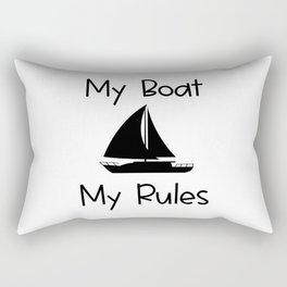 My Boat My Rules Lake and Ocean Travel Rectangular Pillow