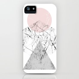 Marble Hexagon iPhone Case