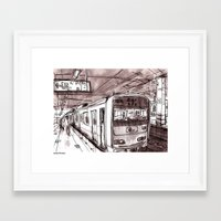 subway Framed Art Prints featuring Subway by Jonas Ericson