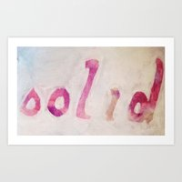 solid Art Prints featuring Solid by ThankYouWare