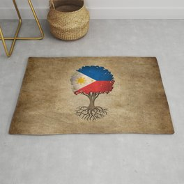 Vintage Tree of Life with Flag of Philippines Rug