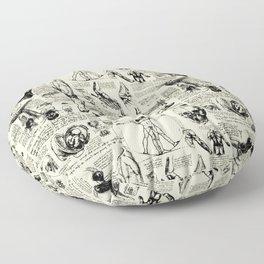 Da Vinci's Anatomy Sketchbook // Parchment Floor Pillow