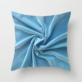 velvet sky blue edition Throw Pillow