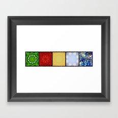 Five Elements Banner Framed Art Print
