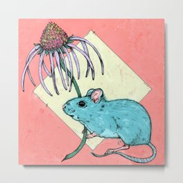 prairie deer mouse. Metal Print