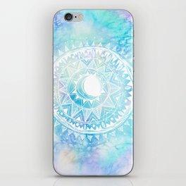 Watercolor Moon Mandala iPhone Skin