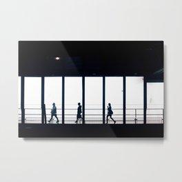 Black and White Minimal Print urban wall art Street photography print Metal Print