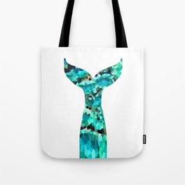 Mermaid Tail Turquoise Mint Aqua Tote Bag