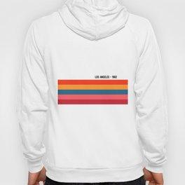 LOS ANGELES - 1982, Retro Print, Color Print, Wall Art, Color Art, Art Print, Modern Vintage, Retro Hoody