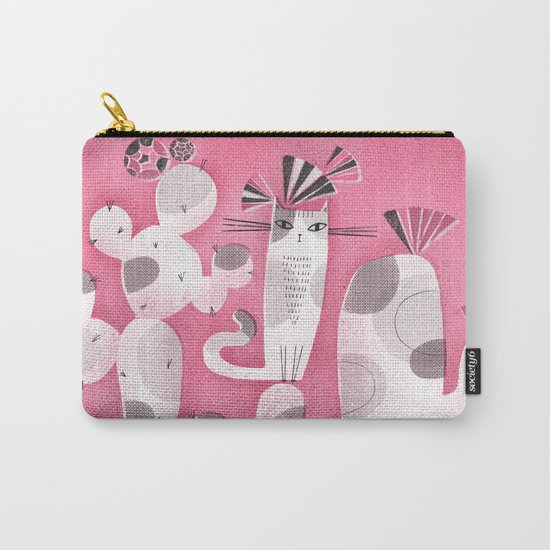 CAT & CACTUS Carry-All Pouch
