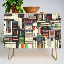 Cassettes, VHS & Games Credenza