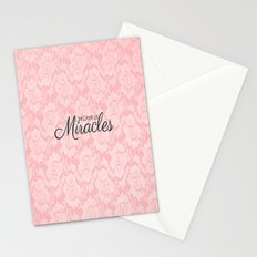 I believe in Miracles Pink Lace  Stationery Cards