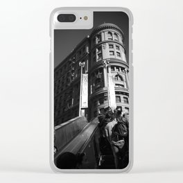 Subway to the City Clear iPhone Case