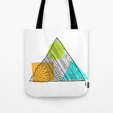 Triangle Doodle Tote Bag