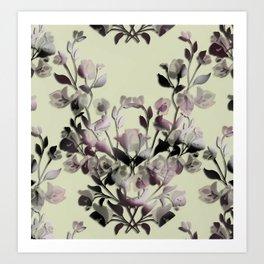 Vintage Flower Branches Art Print