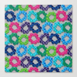 Scrunchie Hairbands Canvas Print