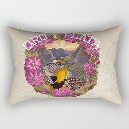 Oro y Plata Rectangular Pillow