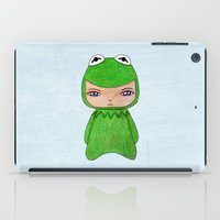 kermit iPad Cases featuring A Boy - Kermit the frog by Christophe Chiozzi