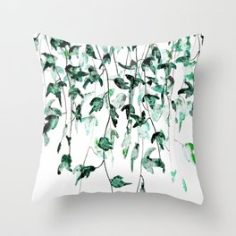 Ivy on the Wall Throw Pillow