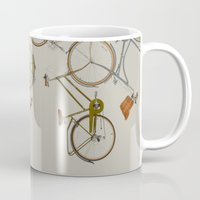 bicycles Mugs featuring bicycles by Golden Boy