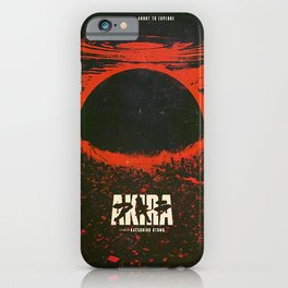 Cyberpunk City Explotion Poster iPhone Case