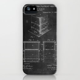 Beehive Patent with Bees iPhone Case