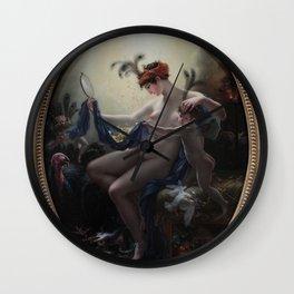 Anne-Louis Girodet de Roussy-Trioson - Mademoiselle Lange as Danaë Wall Clock