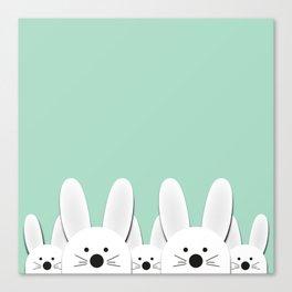 Spying Bunnies Canvas Print
