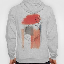 Comfort Zone - A minimalistic india ink and acrylic abstract piece in pink, black, gray, and blue Hoody