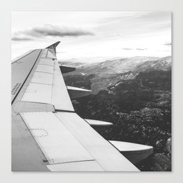 Mountain State // Colorado Rocky Mountains off the Wing of an Airplane Landscape Photo Canvas Print