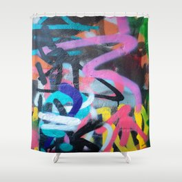 Street Art Graffiti Photography by Dominic Joyce Shower Curtain