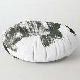 black on white 2 Floor Pillow