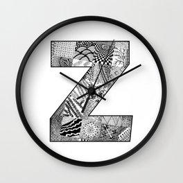 Cutout Letter Z Wall Clock