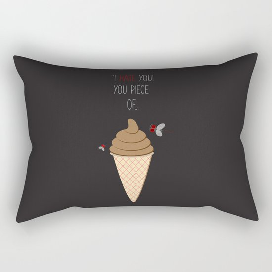 'Hate + Love! You piece of sweet!' Rectangular Pillow